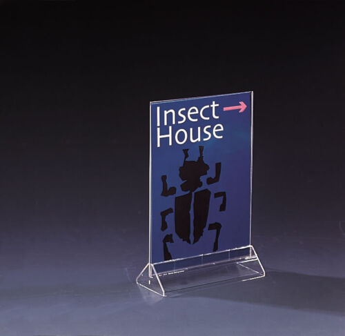 5 x A5 Perspex Menu Card Holder//Information Holders Clear