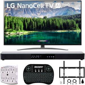 "LG 65"" 4K HDR Smart LED NanoCell TV with AI ThinQ 2019 Model + Soundbar Bundle"
