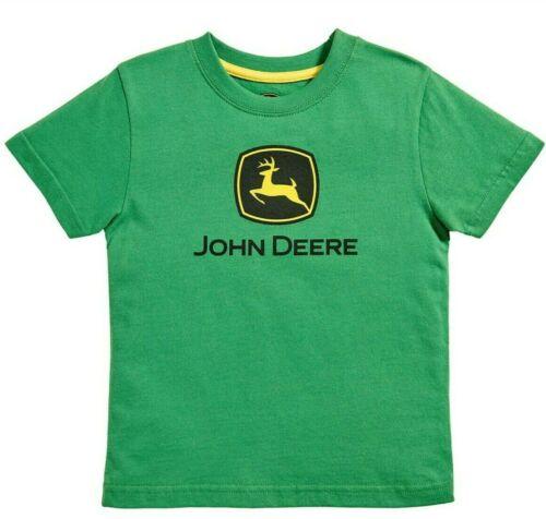 24 Mo 18 NEW John Deere Infant Boys Green Short Sleeve JD Logo T-Shirt Size 12