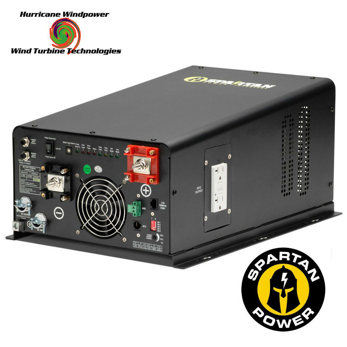 Spartan Power 3300 Watt 48V Pure Sine Wave InGrüner Charger SP-IC3348