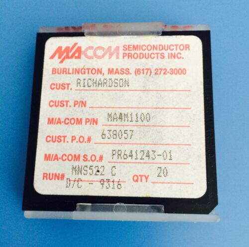 Details about  /MA4M1100 MA-COM SEMICONDUCTOR SILICON CAPACITOR MIS//MNS 100PF 100VDC CHIP 20ps