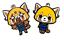 Aggretsuko necklace keychain charm anime cute animation red panda heavy metal