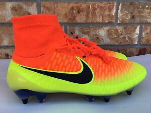 Men's Nike Magista Obra SG-PRO FG Soccer Cleats Crimson Black Volt 641325-808