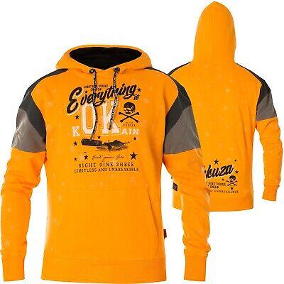 YAKUZA Hoody Everything OK Two Face Hoodie HOB 14004 Bright Marigold Orange   eBay