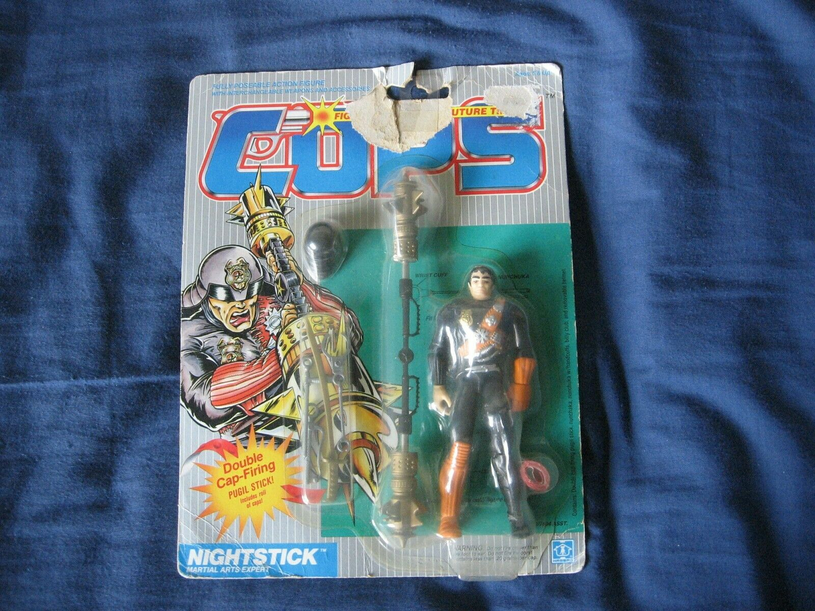 Cops N Crooks Nightstick MOC Hasbro 1988 Worldwide Shipping