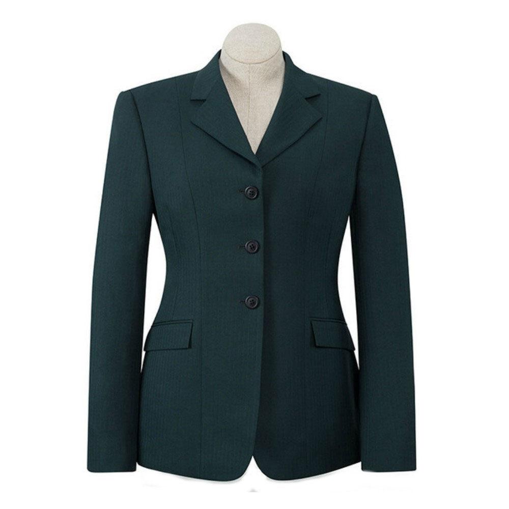 D8118 Ladies RJ Classics Green Herringbone Devon Show Coat NEW