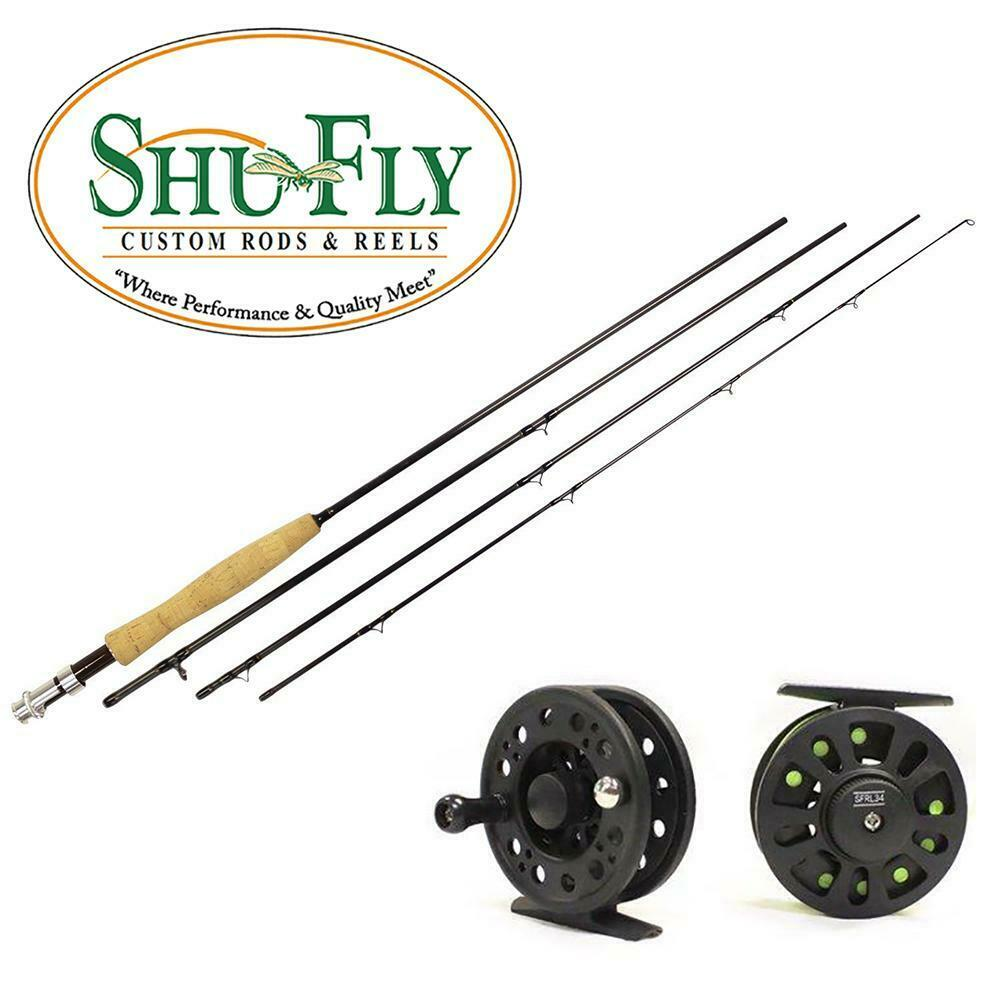 SHUFLY 4PIECE FLY asta e REEL COMBO FOR 3 OR 4 WEIGHT