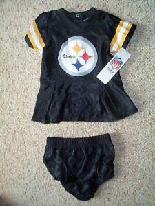 best cheap 5c9e1 fcb78 Details about Pittsburgh Steelers Cheerleader INFANT BABY NEWBORN Jersey  Dress 3-6M 3-6 Months