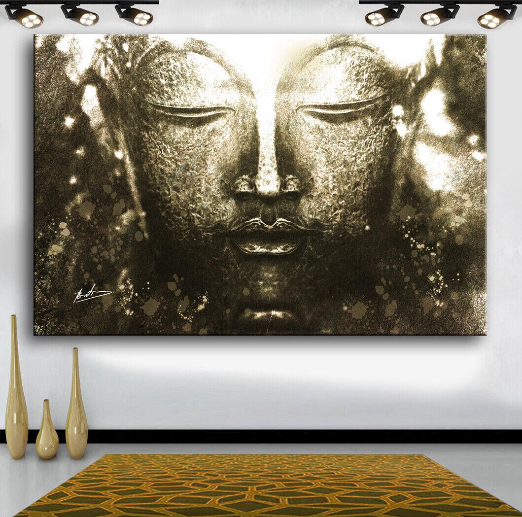 Buddha Abstraktes Bilder auf Leinwand Wandbild Deko Modern XXXL  2604A