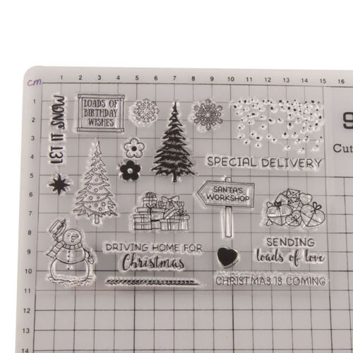 Weihnachtsbaum Weihnachtsmann Geschenk Silikon Stempel Scrapbooking Fotoalbum D