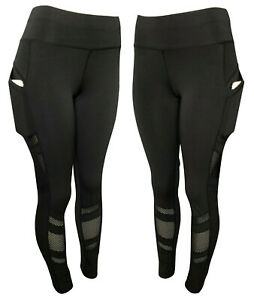 Compresion-para-mujeres-Cintura-Alta-Pantalones-de-Yoga-Entrenamiento-Fitness-Leggings-bolsillos