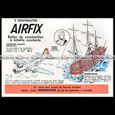 AIRFIX FLYING FORTRESS, ENDEAVOUR CAPTIN JAMES COOK 1963 Pub / Publicité Ad #B75