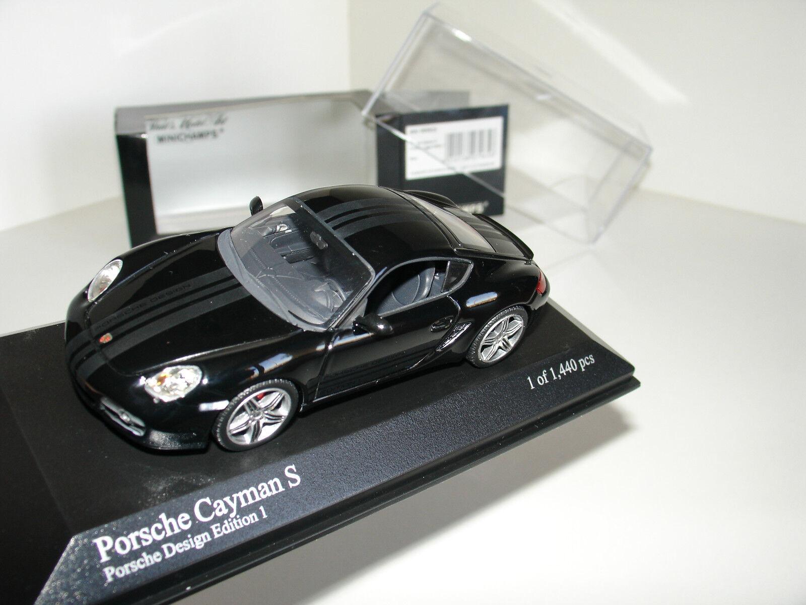 143 Porsche Cayuomo S PORSCHE DESING EDIZIONE 1 Nero da Minichamps