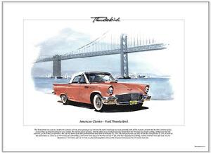 American Classics - FORD THUNDERBIRD '57 - Fine Art Print - V8 powered sportscar