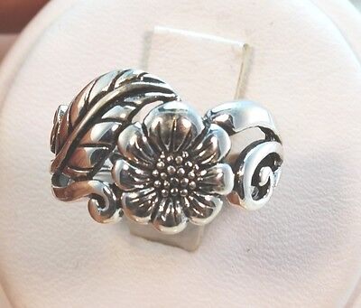 Beautiful Sunny Sunflower Ring Band Sterling .925 Avail Size 2,3,4,5,6,7,8,9,10