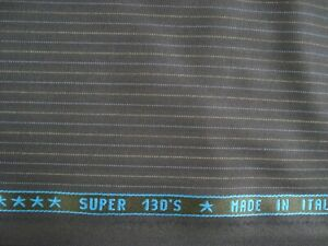 3-83-yds-Holland-Sherry-Wool-Super-130s-Fabric-Drago-9-oz-Suiting-Navy-138-034-BTP