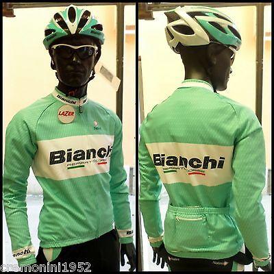 BIANCHI maglia lunga Reparto corse ciclismo bici team bike long jersey carbon