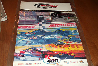 Sports Mem, Cards & Fan Shop Michigan Speedway Kmart 400 Nascar Souvenir Program 1999 With Adhesive Plaque
