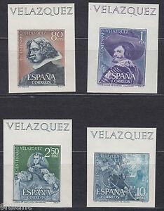 Velazquez-1344-1347-Sh-Annee-1961-Timbres-Sans-Dent-De-Las-Feuilles-Block
