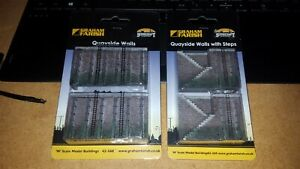 N-Gauge-Bachmann-Graham-Farish-42-568-Quayside-Walls-amp-42-569-with-Steps