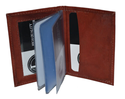 Small Card Picture holder Brown Genuine Leather16 pages men women by Leatherboss
