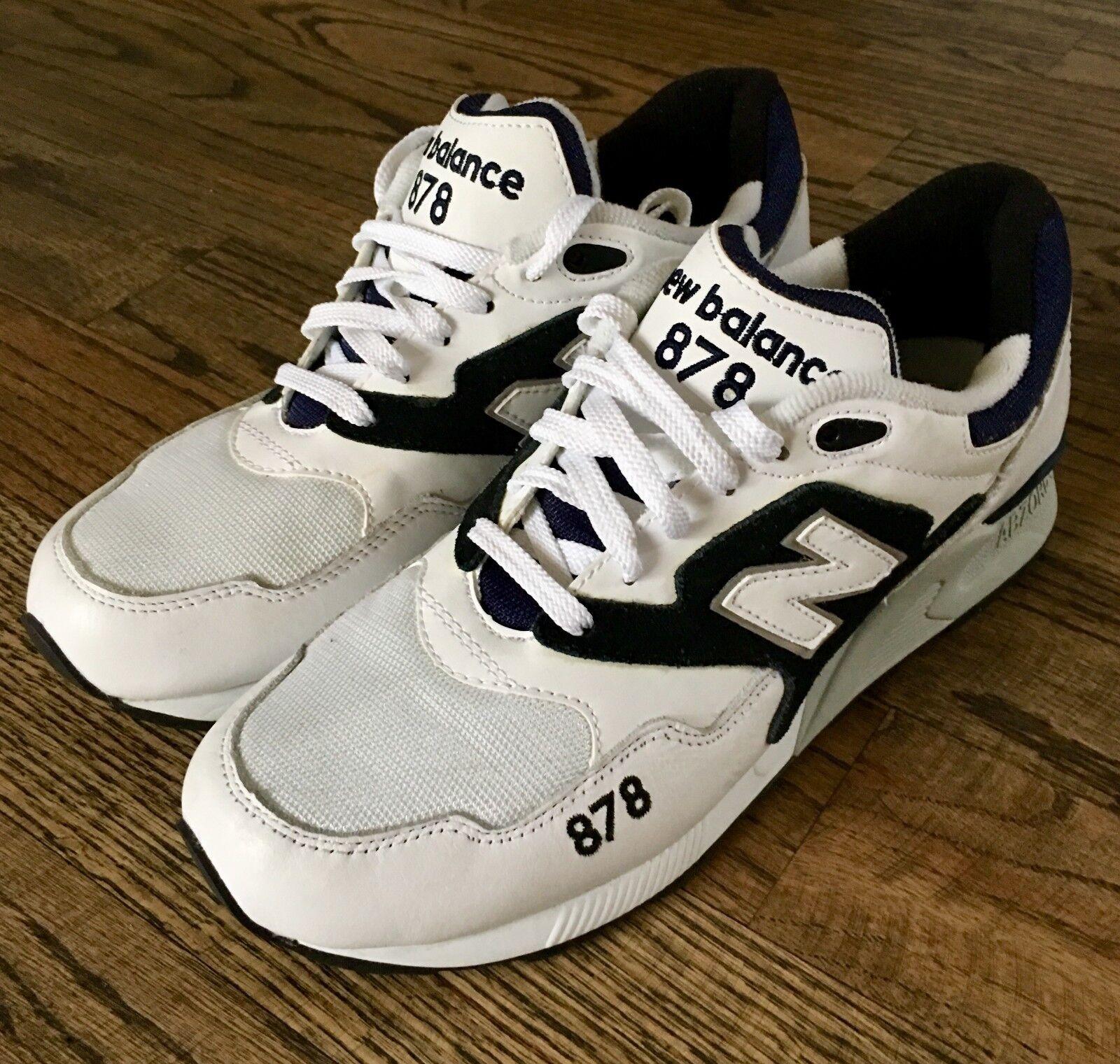 NEW BALANCE 878 90'S RUNNING SHOES WHITE BLACK NAVY (ML878AAA) NWOB