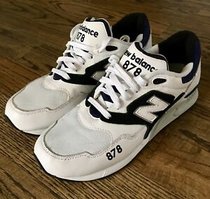 4a2af2ece495 NEW BALANCE 878 90 S RUNNING SHOES WHITE BLACK NAVY (ML878AAA) NWOB ...