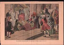 Costume Louis XV Coutume de Noël Bercement Enfant Jésus france 1912 ILLUSTRATION