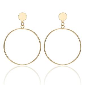 Damen-Creolen-Clips-Ohrringe-Ohrclips-Ohne-Ohrloch-Rund-Gold-Silber-Beschichtet