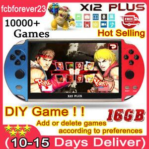 X12 Plus 7'' 16GB Handheld Retro Video Game Consoles Built-In 10000+ Games✅✅