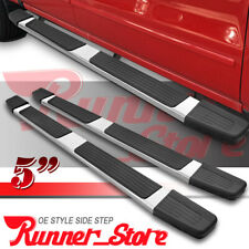 """07-18 Toyota Tundra Crew Cab 5/"""" Chrome Pads Running Side Step Boards Nerf"""