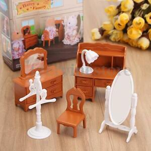 doll house miniature bedroom furniture toy set living room