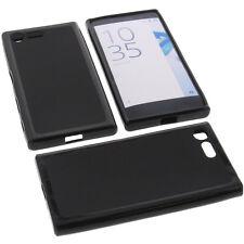 Tasche für Sony Xperia X Compact Handytasche Schutz Hülle TPU Gummi Case Schwarz