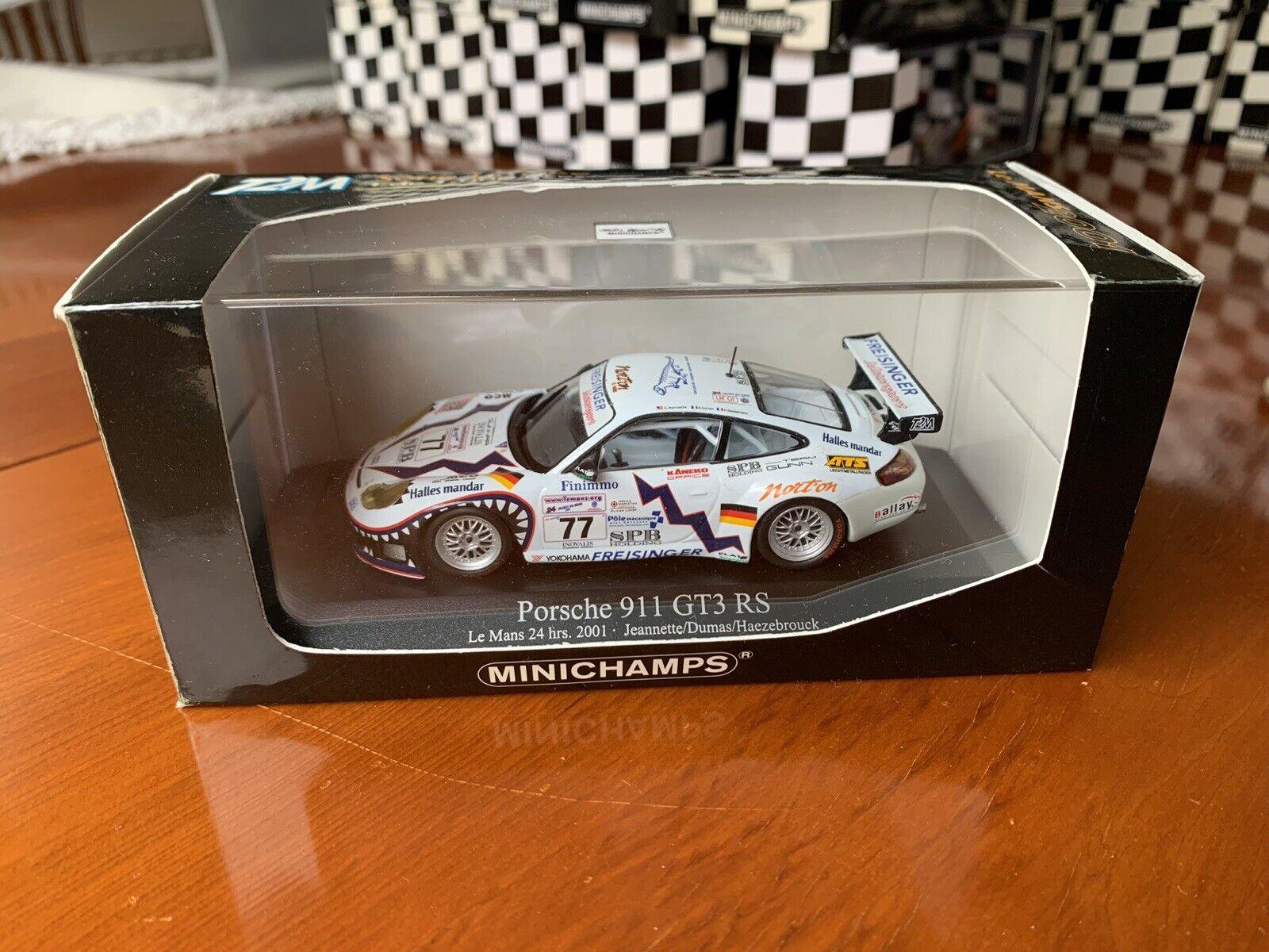 Minichamps T2M Porsche 911 GT3 RS, Le Mans 24 Hrs 2001, in 1 43 scale diecast