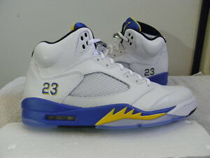 brand new ba14a 82c8c Image is loading Nike-Air-Jordan-V-5-Retro-Laney-Plus-