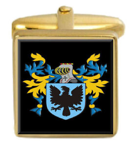 Select Gifts Picton Wales Heraldry Crest Sterling Silver Cufflinks Engraved Message Box
