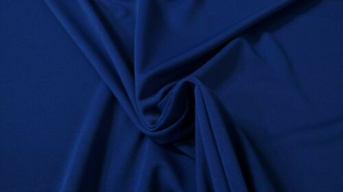 "Royal Blue Poly Viscose Double Knit Apparel Fabric 60/""W Dress Premium Soft"