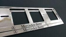 2X MERCEDES-BENZ European Stück Kennzeichenhalter.