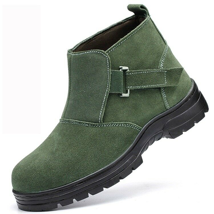 Mens High Top Work Ankle Boots Prevent Puncture Casual Safety shoes Platform