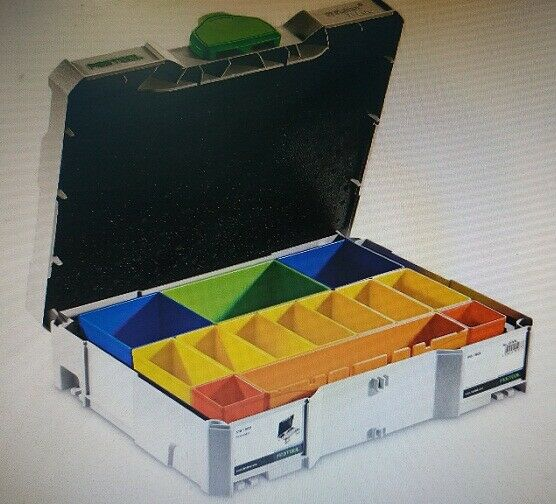 Festool SYS-1 T-LOC ASSORTMENT STORAGE BOX Removable Containers *German Brand