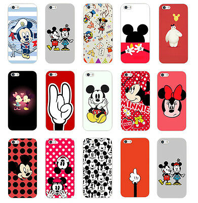 For Iphone 4S 5 5S 5C 6 Cute Novel Pink Cartoon Pattern PC Hard Back Case Cover