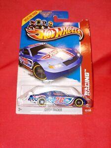 Hot Wheels 2013 Track Aces Series #122 Circle Tracker Blue w MC5s