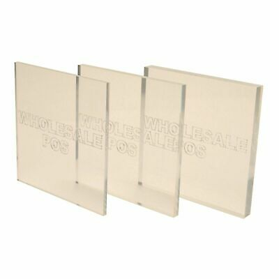 Clear Plastic Perspex Acrylic Cut Sheet A4 Size 1mm To 10mm Thick Panels Ebay