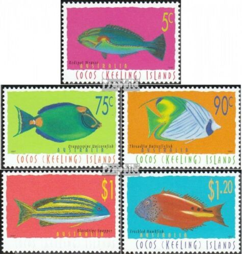 KokosIslands 357361 complete.issue. unmounted mint never hinged 1997 Fish