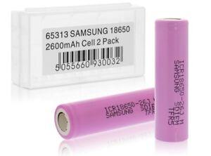 2x-Samsung-Li-ion-Akkus-fuer-18650-Accu-Batterie-Battery-Neu-2-Akkus