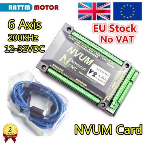 EU 6 ejes nvum 200Khz USB Tarjeta De Mach 3 CNC Motion Controller Controlador breakout junta
