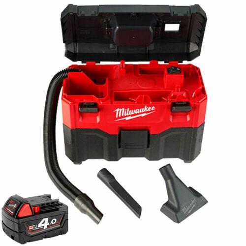1 x Batterie 4.0Ah M18B4 Milwaukee M18VC2 18 V Wet /& Dry Vacuum 2nd Génération