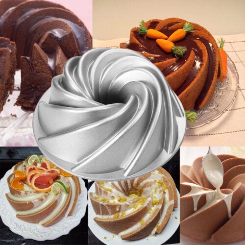 Swirl Bundt Pan Originality Cake Pan Non-Stick Bakeware Aluminum Baking Pan