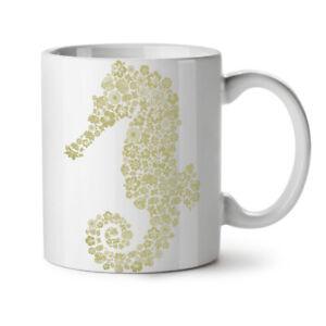 Seahorse Flowers Animal NEW White Tea Coffee Mug 11 oz | Wellcoda