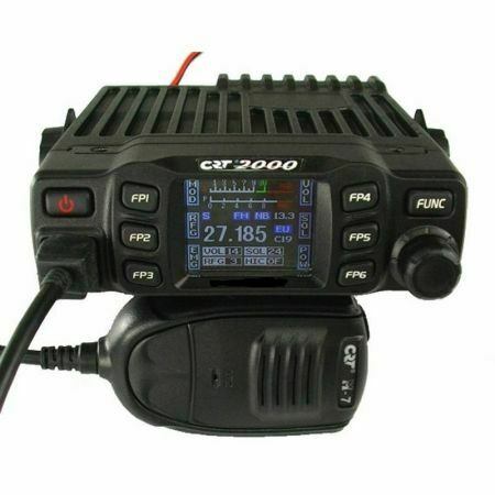 CB CRT 2000 radio station, 4W, AM / FM, 12V-24V, ASQ, Scan, Dual Watch, RF Gain,